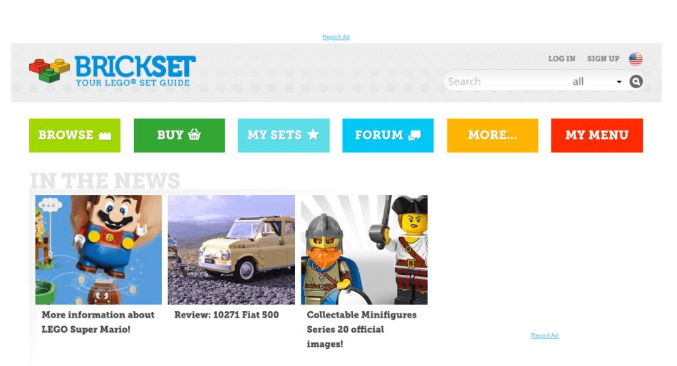 brickset LEGO fan website