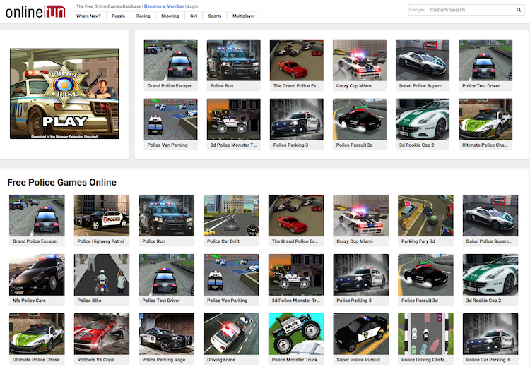 free-police-car-games-online