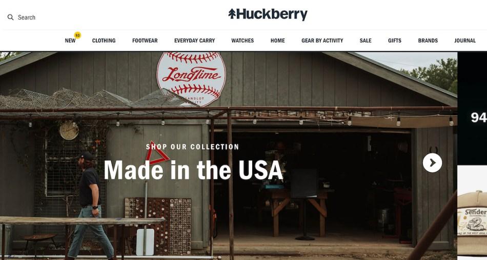 best mens websites huckberry