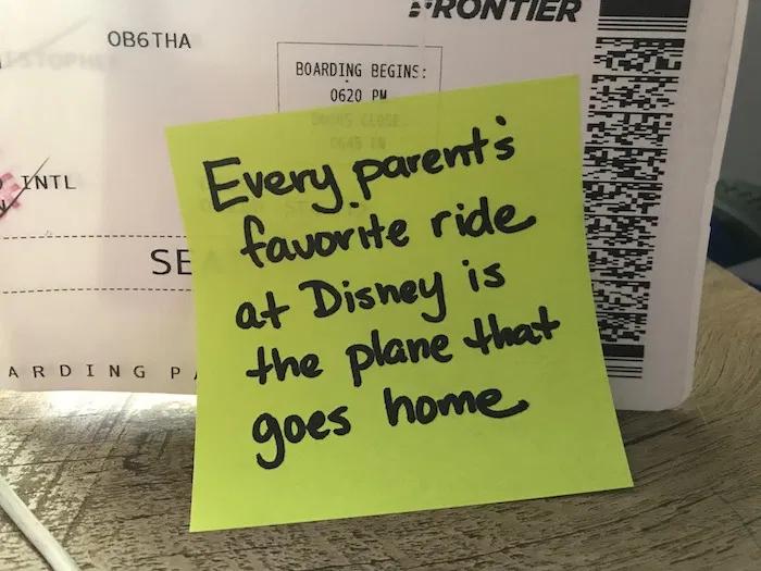 Disney-Ride-Home-Parenting Note