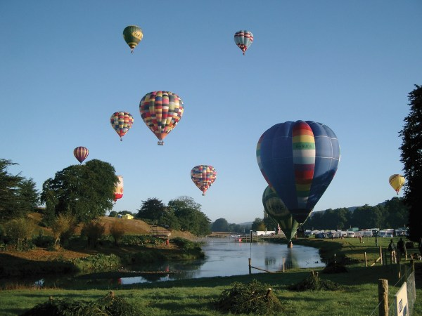 Chatsworth Country Fair hot air balloons