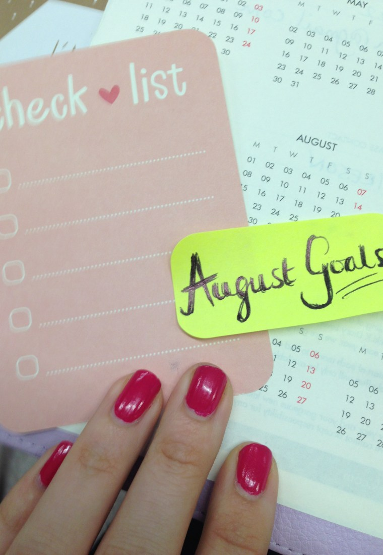 July review/August goals
