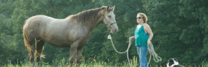 Photo of April Hart with horse