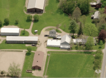 Areal view of stables