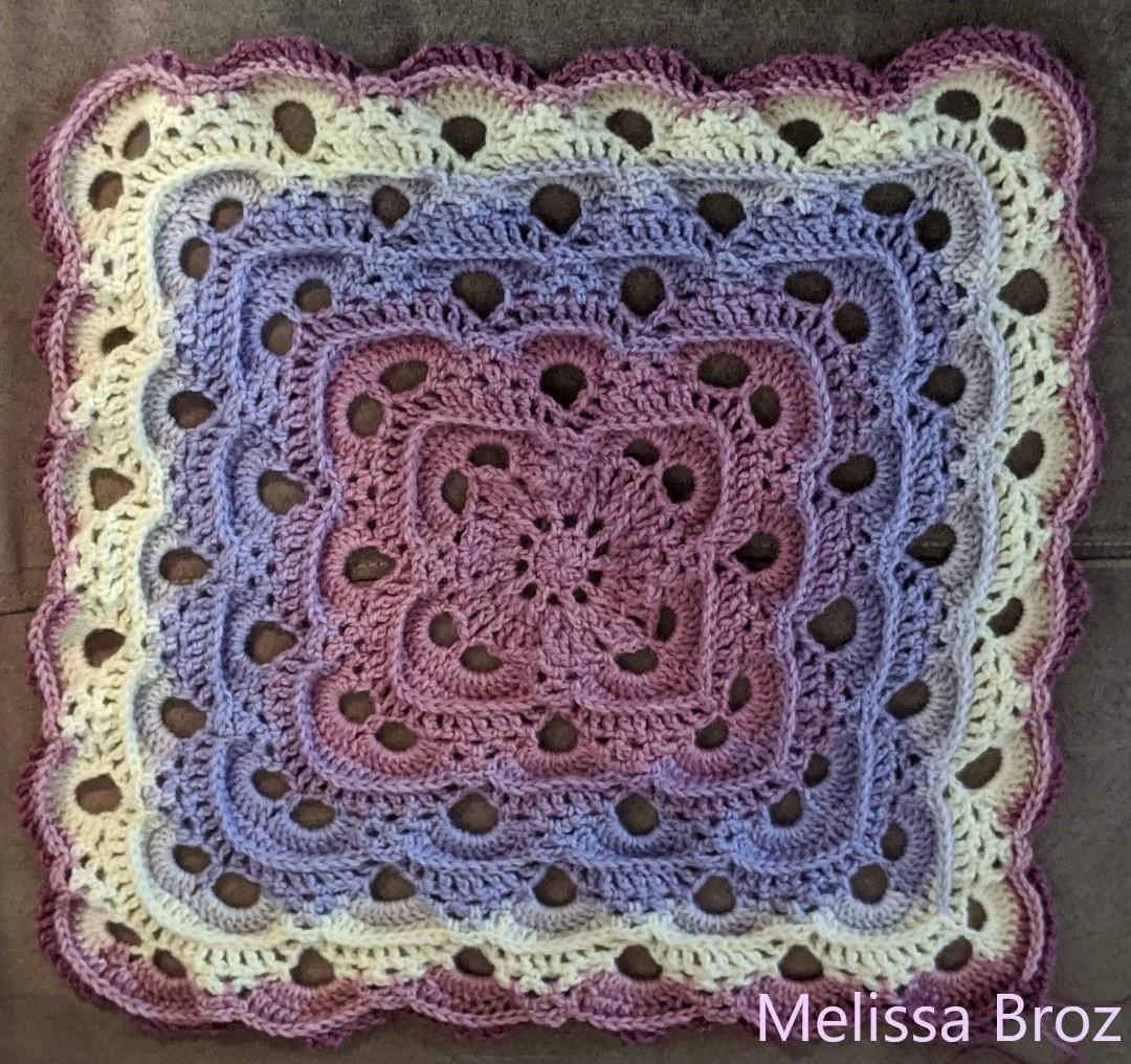 Textured Virus Blanket by Melissa Broz