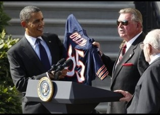 Barack Obama, Mike Ditka, Buddy Ryan