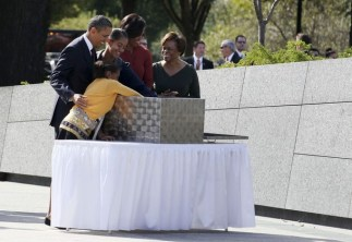 The first family place item in time capsule at the Martin Luther King, Jr. Memorial in Washington