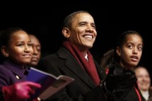 Barack Obama, Malia Obama, Sasha Obama,