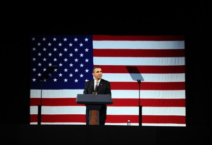 US President Barack Obama speaks during
