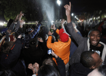 Supporters celebrate Obama11