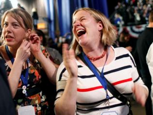 Supporters celebrate Obama4