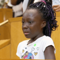 Charlotte girl weeps over police shootings at city council meeting
