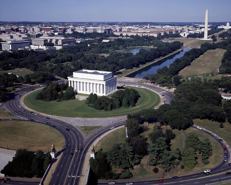 Мемориала Линкольна. Lincoln Memorial in Washington, DC