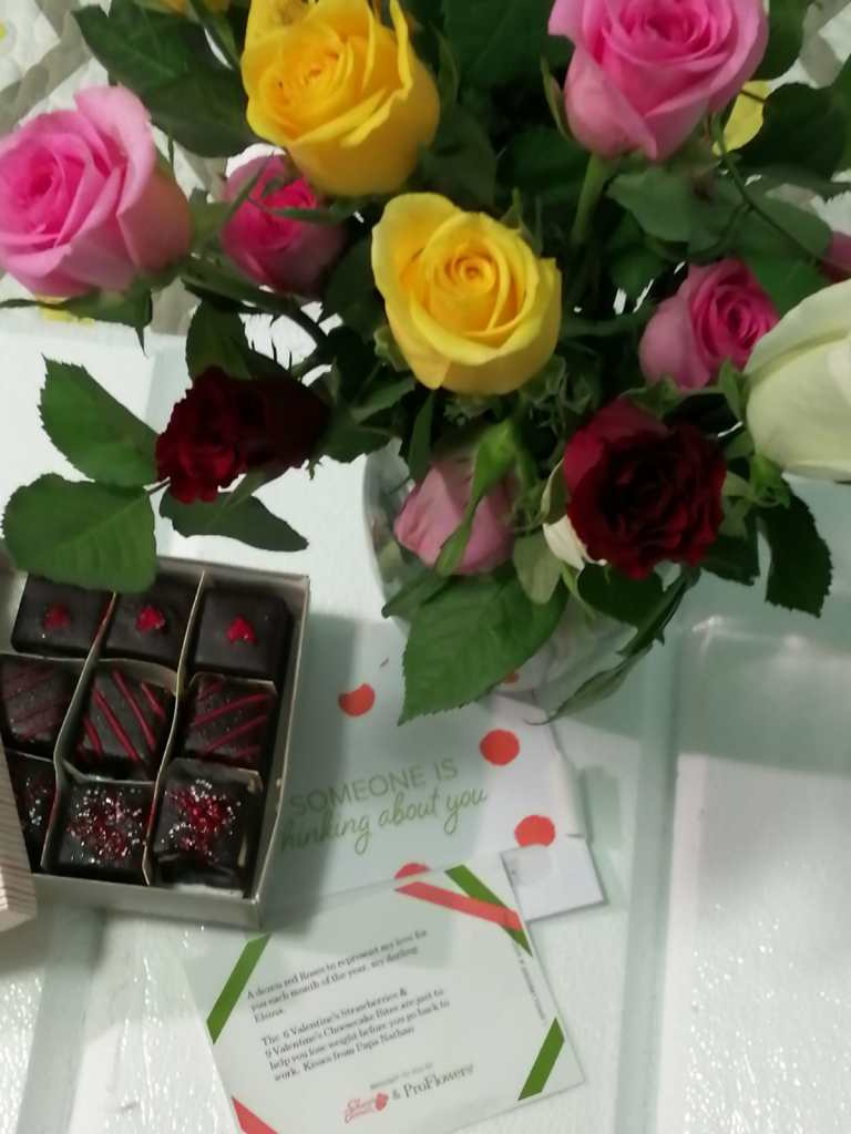 valentines day  order from Shari's Berries
