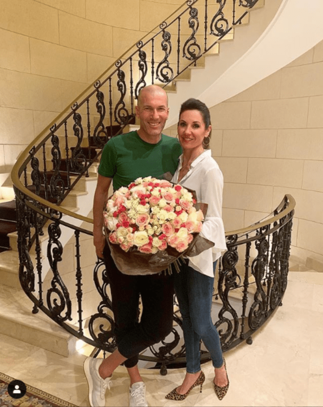 Zinedine Zidane and wife celebrate 25th wedding anniversary.