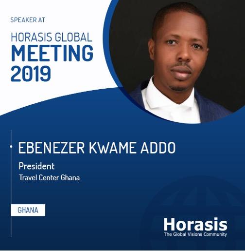 President of Travel Center Ghana speaks at Horasis Global Summit 2019 in Lisbon, Portugal