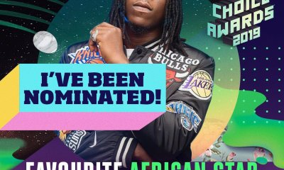 Stonebwoy wins Nickelodeon Kids' Choice Award.