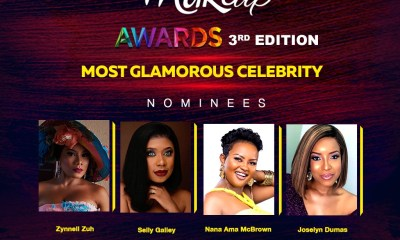 Joselyn Dumas, Ama McBrown, Selly Galley , Zynnell Zuh face off for most glamorous celeb at Ghana Makeup Awards 2019