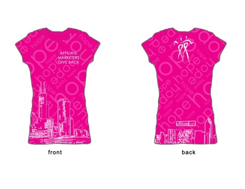 AffiliateMarketersGiveBack.com 2010 Avon Walk for Breast Cancer Team Shirt by Affiliate.com