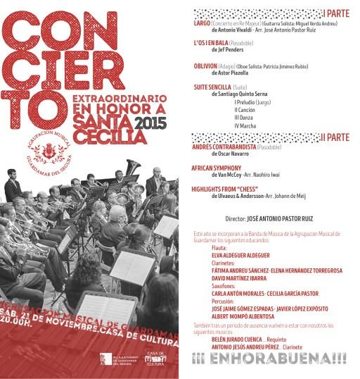 PROGRAMA CONCIERTO SANTA CECILIA 2015