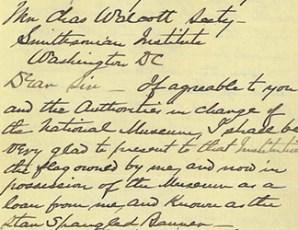 (Página 1) Carta de Eben Appleton a Charles Walcott, Secretario de la Institución Smithsonian, 1912