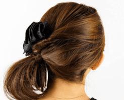 お葬式の髪型(女性)画像 セミロング 2