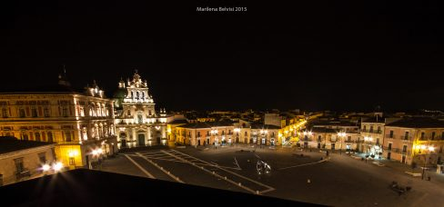 Grammichele main square by night
