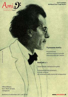 AmiCiak n. 1 (2011) Gustav Mahler. Autopsie d'un génie   Proiezione del documentario di Andy Sommer (poster)