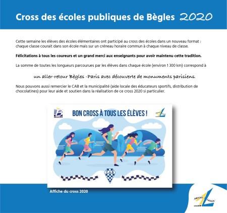 Cross des écoles Bègles 2020