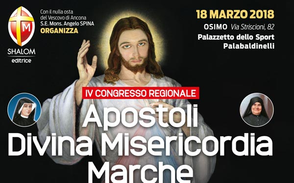 Convegno Divina Misericordia 18 marzo 2018 ad Osimo