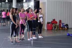 The girls before their workout
