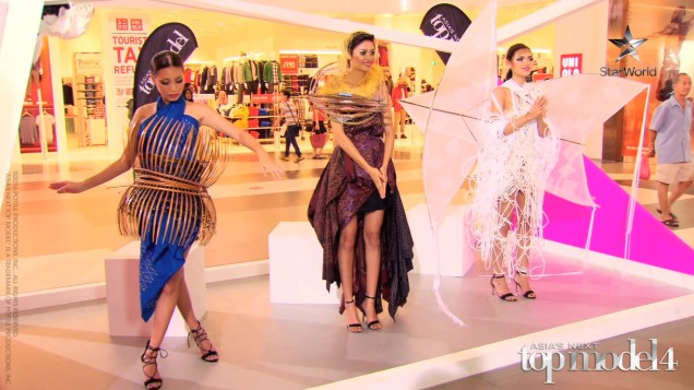 AsNTM4 Episode 5 - Patricia, Tawan and Sang In pose in Madaew's creations