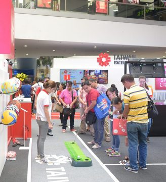 Indoor golf and other sports and leisure equipment at the Taiwan Excellence Experience Zone