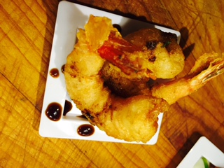 Tempura Shrimp with Soy Sauce Drizzle