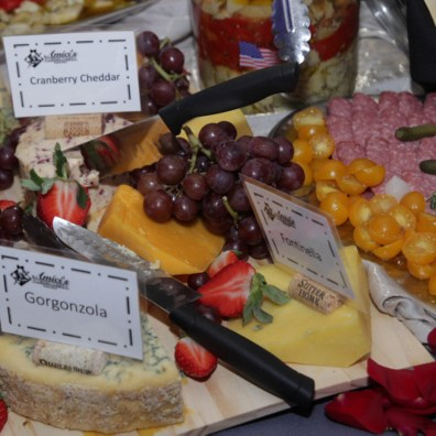 Closeup of a Cheese Spread