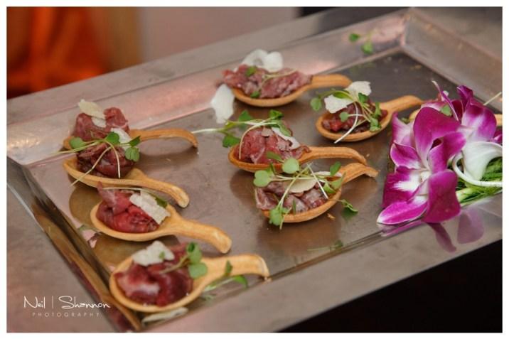 Beef Carpaccio on Edible Spoons