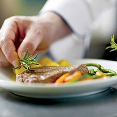 Closeup of a Dinner Plate