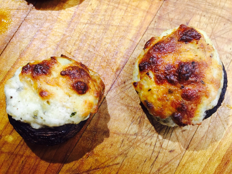 Parmesan Cheese Stuffed Mushroom Caps