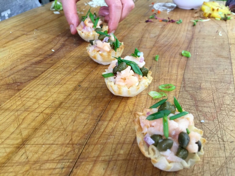 Smoked Salmon Red Onion and Cream Cheese Tartlet