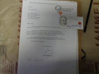 Correspondència amb el roserista Anglés, Harry Wheatcroft