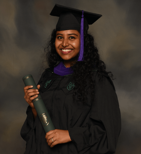 Monika Bashyam completed an LL.M. in Admiralty from Tulane University in 2019, three years after her law degree from Saveetha School of Law.