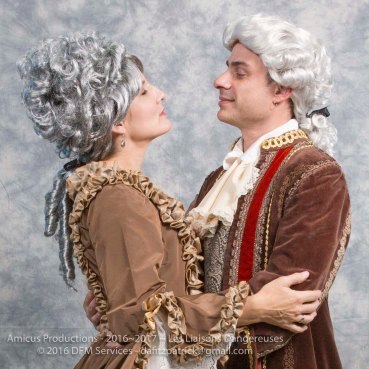 Merteuil (Renee Cullen) and Valmont (Chris Coculuzzi)