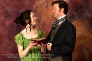 Marianne (Jackie Mahoney) and Colonel Brandon (Matthew Payne)