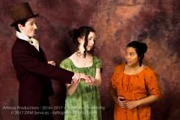 Edward (Conor Ling), Marianne (Jackie Mahoney), and Elinor (Tamara Freeman)