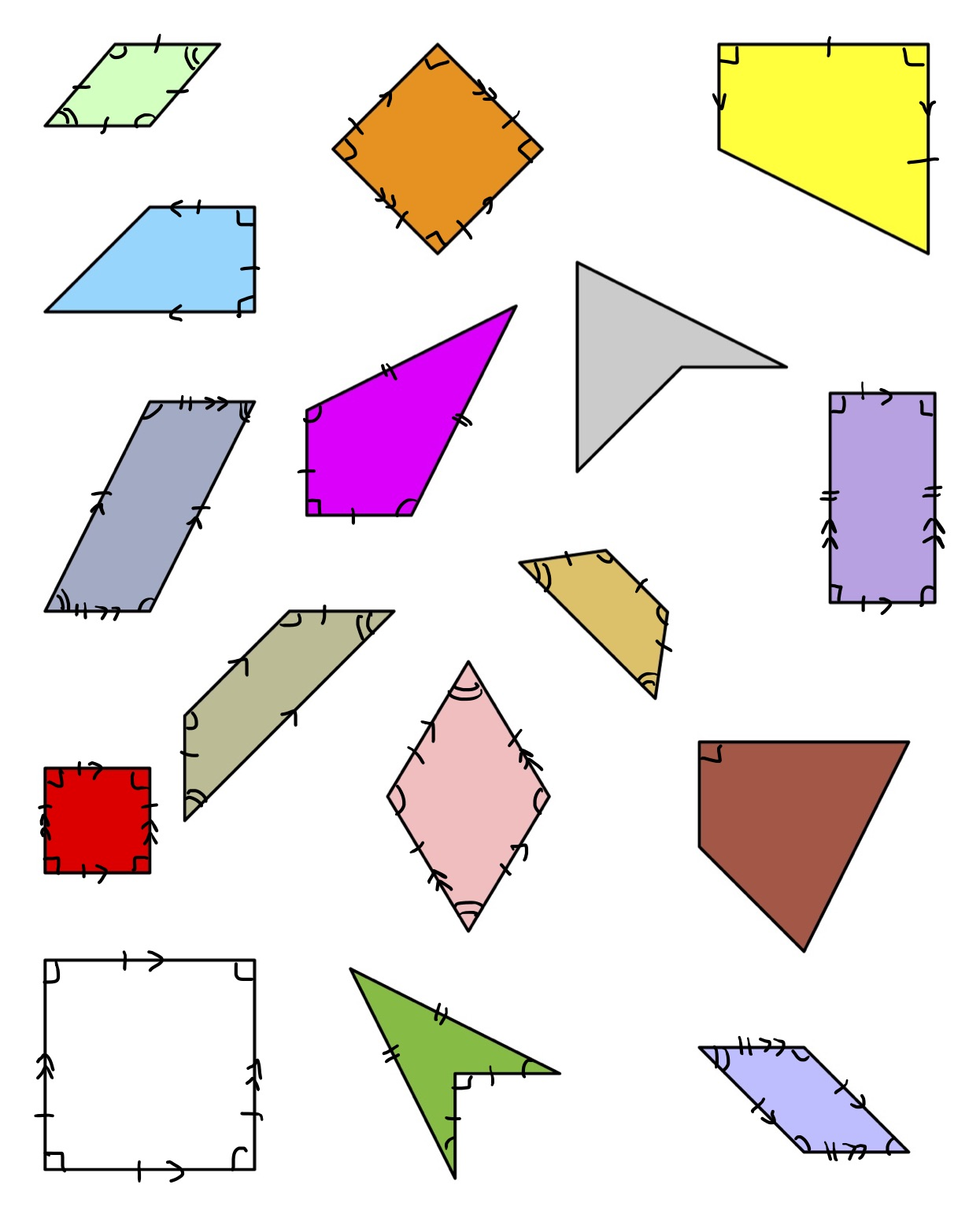 A Lesson Plan Of Sorts For Quadrilaterals Wonder In