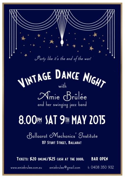 Vintage Dance Poster 2015