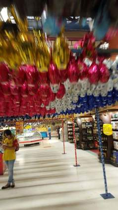 Amigas4all giant easter egg supermarket aisle