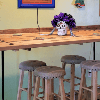 How to Make an Easy Bar Height Pipe Table