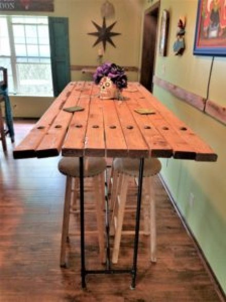 bar height pipe table amigas4all top angle