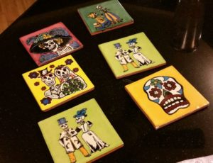 Halloween Day of the dead decor amigas4all coasters inspiration